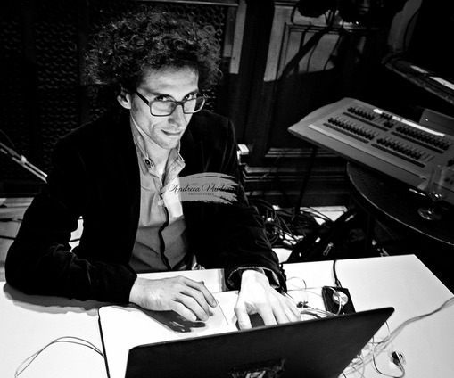 Diego Doigneau busy at the DJ desk.